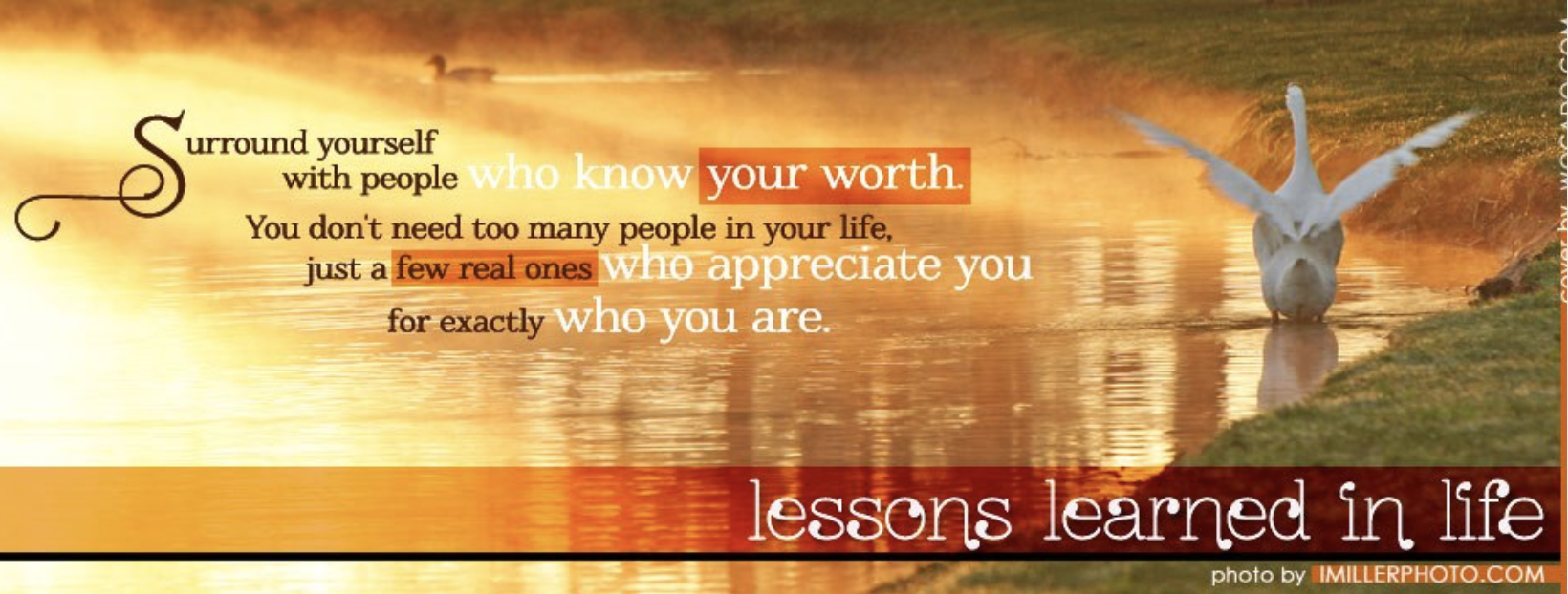 Lessons Learned In Life Facebook Page Image